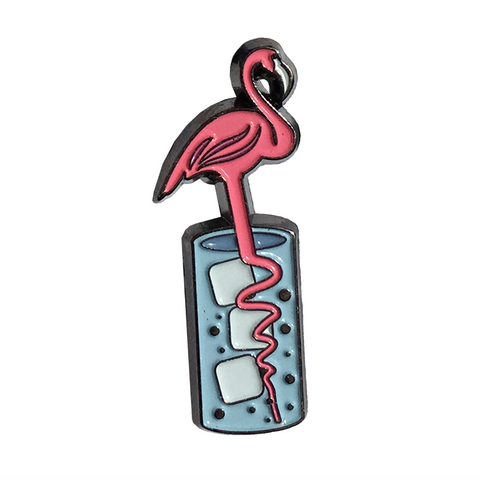 Summer cocktail pin