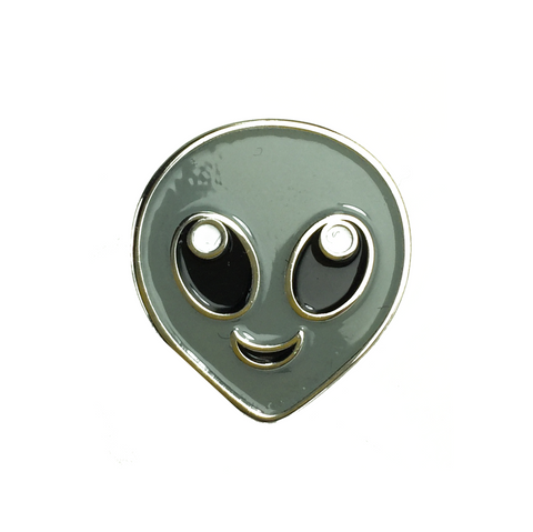 Emoji Alien pin