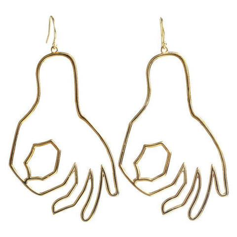 Perfection Wire Art Earring