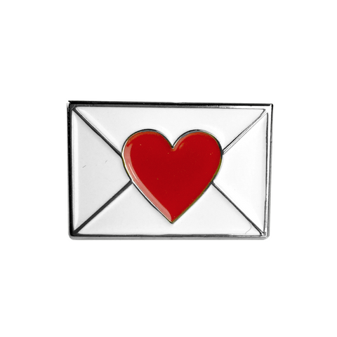 Emoji Love Letter Pin