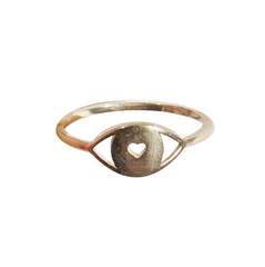 WIRE RING  HEART EYE