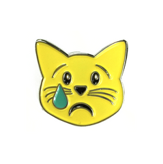 Emoji Sad Cat Pin