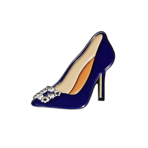 Blue Manolo Heel Sex & The City Pin