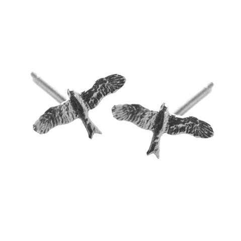 HIS EYE IS ON THE SPARROW STUDS - SILVER-PLATED