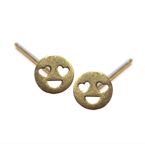 VMOJI HEART EYE FACE EARRING