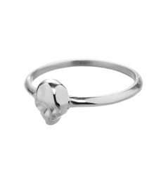 SKULL RING -  STERLING SILVER PLATED