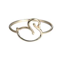 WHISPER OF SHINE SWAN RING
