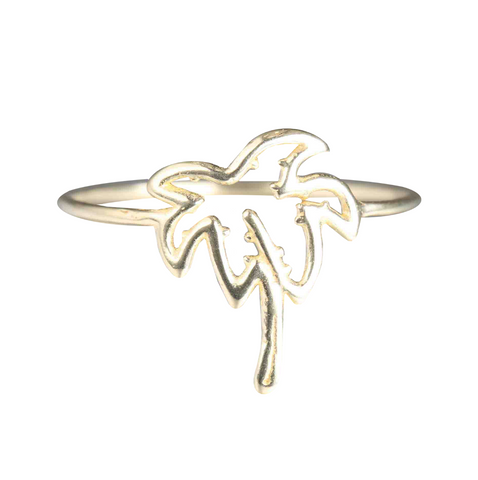 WHISPER OF SHINE PALM TREE RING