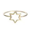 WHISPER OF SHINE SIX SIDED STAR RING