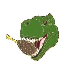 Pin Dino Eating Fried Chicken