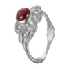 SKULLY DOUBLE HEADED SKULL GARNET