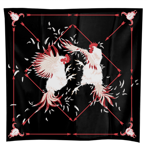 Scarf ROOSTER CROW COCKFIGHT