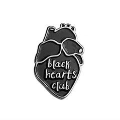 BLACK HEARTS CLUB pin