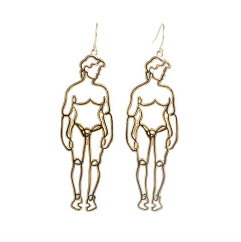 He Wire Art Earring