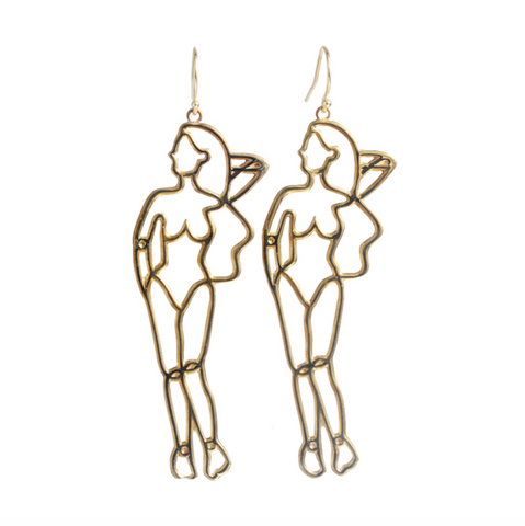 She Wire Art Earring