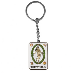 THE WORLD TAROT KEYCHAIN