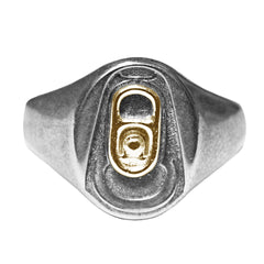 BEER POP ME signet ring