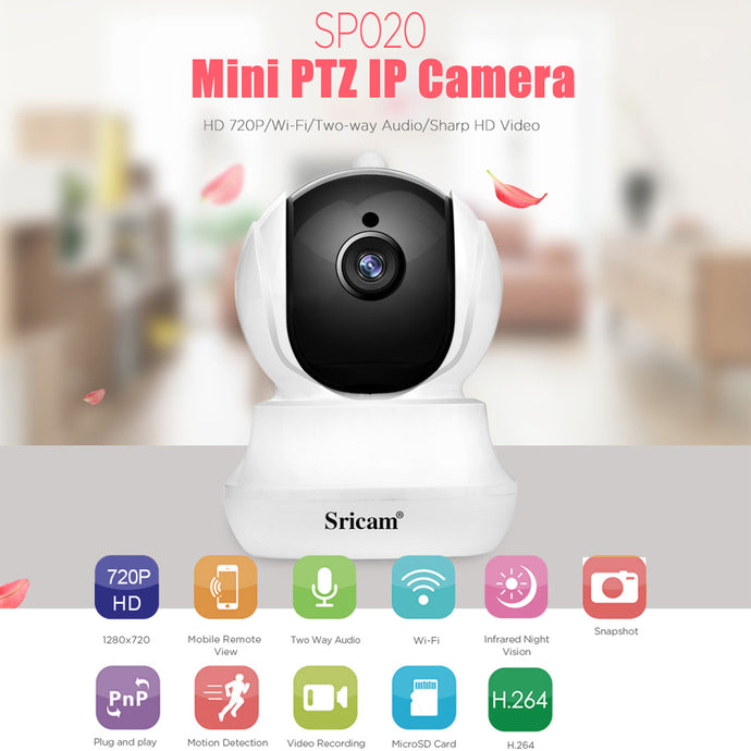 HD 720P H.264 Wireless Mini WIFI Night Vision Smart Home Security IP Camera