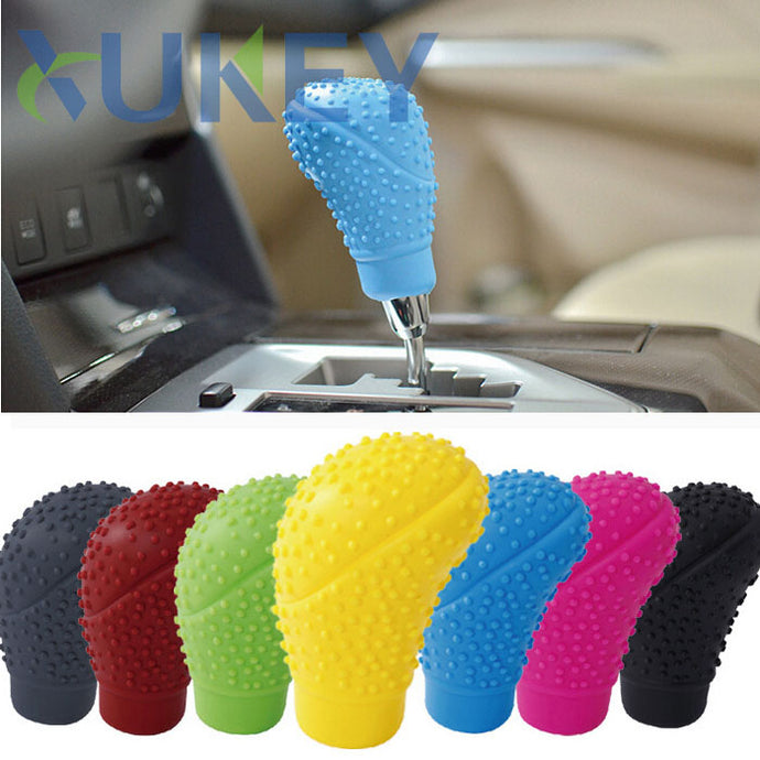 Car Auto Oval Shaped Silicone Cover for Gear Shift Knob