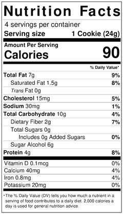 Double Chocolate Cookies nutritional info