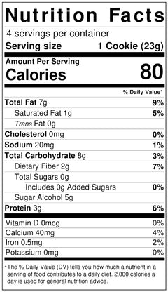 Blueberry Maple Cookies nutritional info