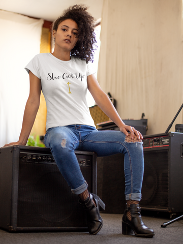'She Got Up' Ladies Fashion Fit T-Shirt