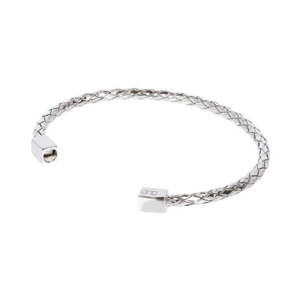 DUO BY BIANCA duo CUFF BRAIDED BANGLE - RHODIUM - WSDO00007