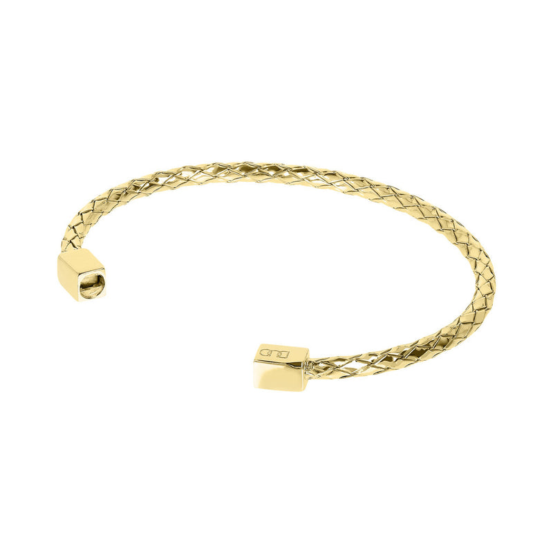 DUO BY BIANCA duo CUFF BRAIDED BANGLE - YELLOW GOLD - WSDO00007