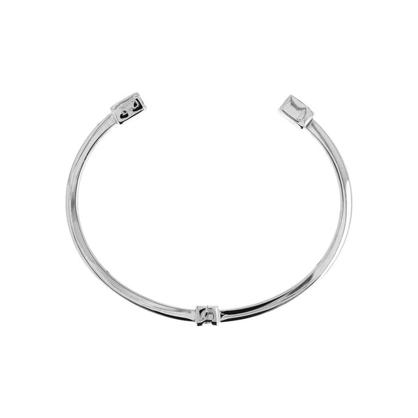 DUO BY BIANCA duo SHINY SQUARE TUBE CUFF BANGLE - RHODIUM - WSDO00002