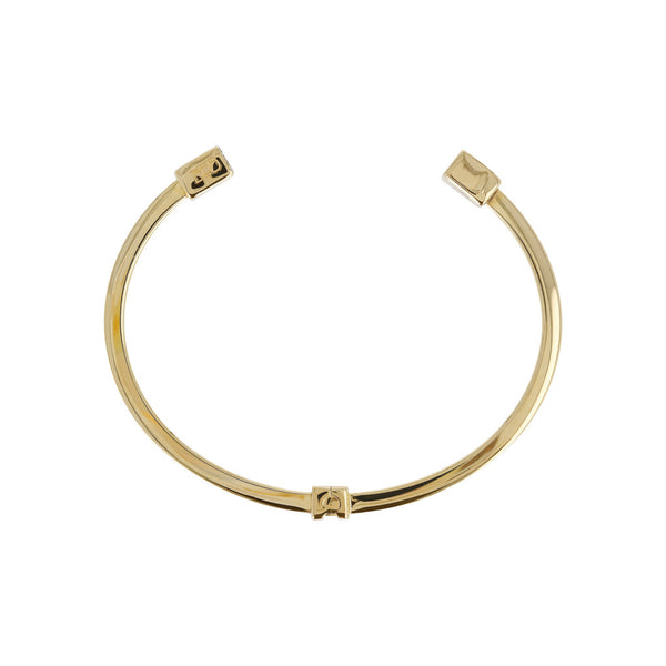 DUO BY BIANCA duo SHINY SQUARE TUBE CUFF BANGLE - YELLOW GOLD - WSDO00002