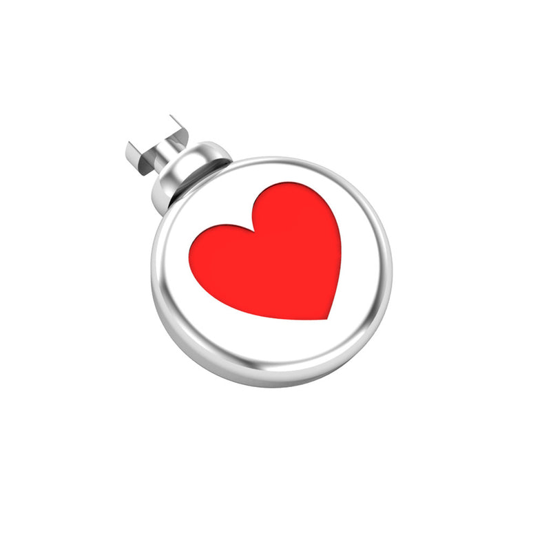 Duo Interchangeable Round Heart Charm
