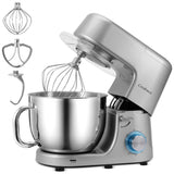 Cookmii Stand Mixer 1800W 7,2L Food Mixer with Bowl, Dough Blender,Dough Hook, Beater, Whisk, Noiseless Less Than 78db, Grey (Silver1508)