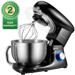 Stand Mixer, Cookmii Electric Food Mixer with 5.5 Quart Stainless Steel Bowl, 660W Tilt-Head Dough Mixer with Dough Hook,Whisk, Flat Beater, Pouring Shield,6-Speed