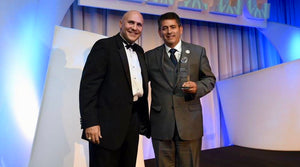 Jorge Escobar recognized at HITEC 100 Awards Ceremony