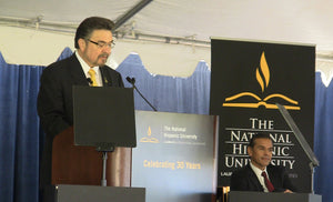 Dr. Lopez addresses National Hispanic University online courses