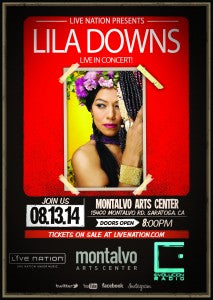 Lila Downs SARATOGA Flyer English
