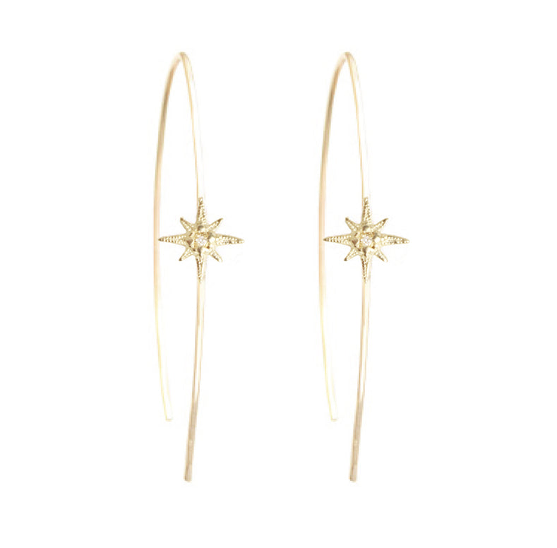 Tiny Gratitude Star Hoops
