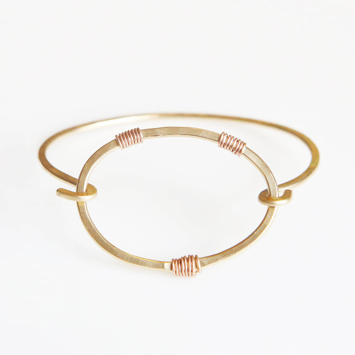Haley Bangle in Rose Gold