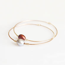 Load image into Gallery viewer, Haley Multicolor Pearl Bangle in Rose Gold