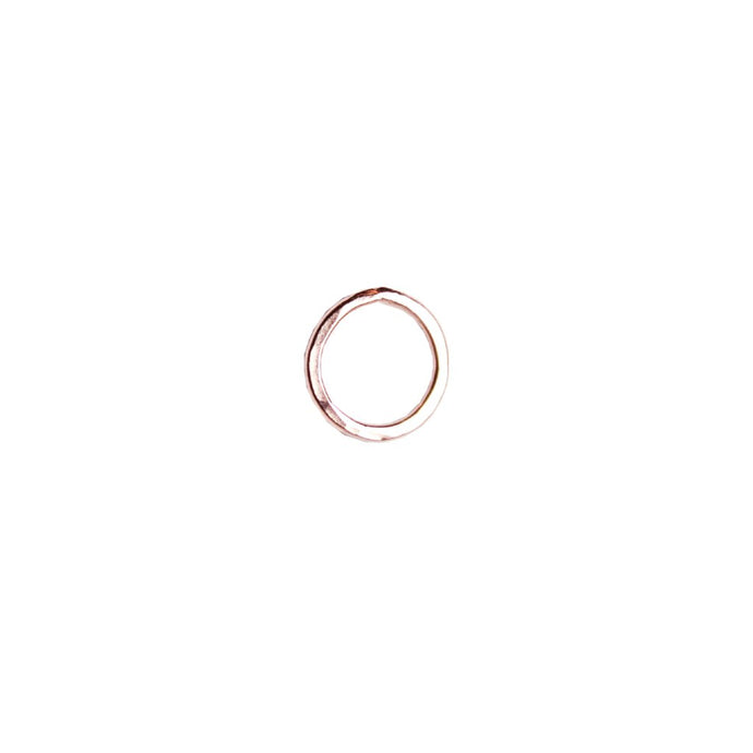 Rose Gold Open Circle Studs