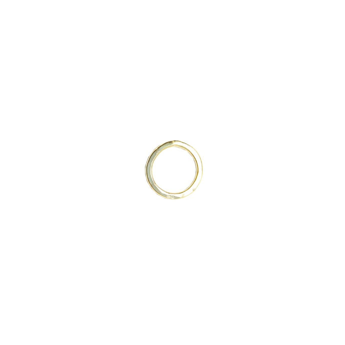 Gold Open Circle Studs