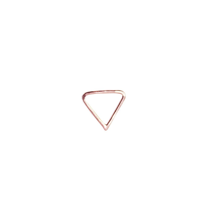 Rose Gold Open Triangle Stud