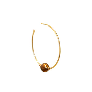 Gold Classic Pearl Hoop