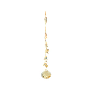 Whiskey Quartz Drop Earrings