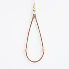 Load image into Gallery viewer, Haley Open Frame Vertical Drop Earrings in Rose Gold