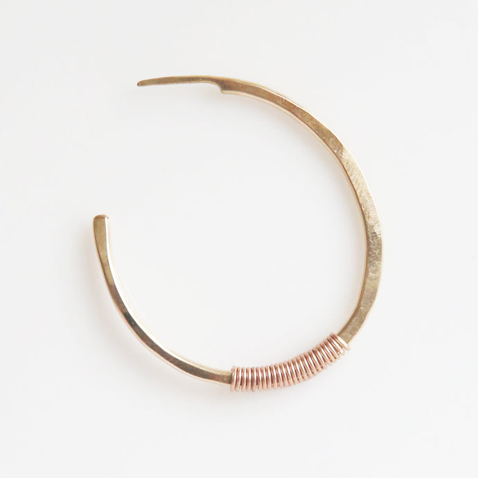 Haley Hoop Earrings in Rose Gold