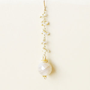 Moonstone and Labradorite Drop Earrings