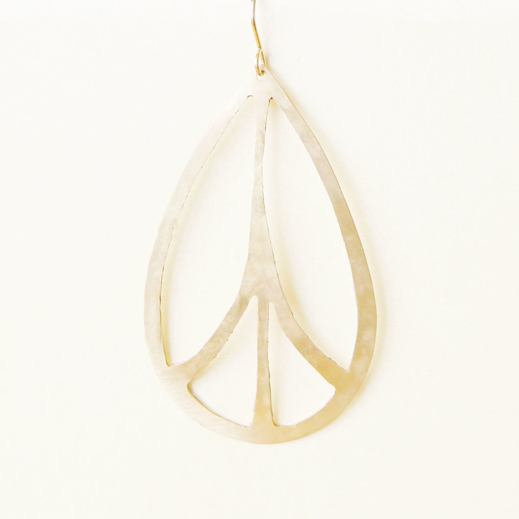 Peace Sign Statement Earrings