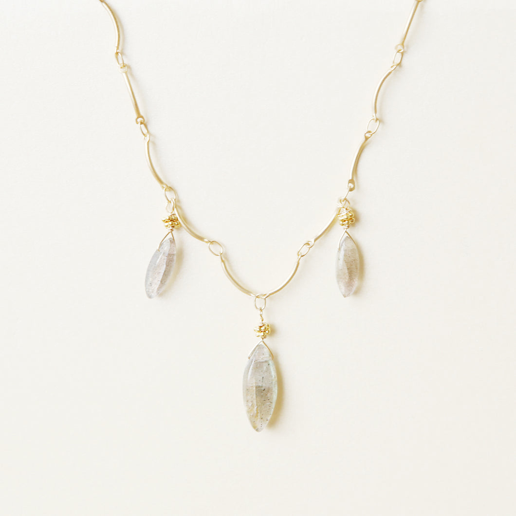 Triple Labradorite Necklace