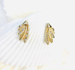 Multi-Diamond Hummingbird Wing Studs